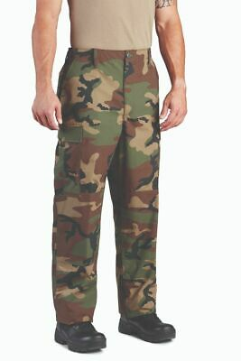 Propper BDU Uniform Cargo Pants Woodland Ripstop Zipper Fly -