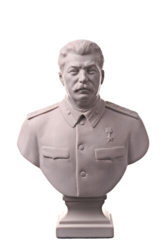 Soviet Russian USSR Leader Joseph Stalin Marble Bust Statue Sculpture 6.4