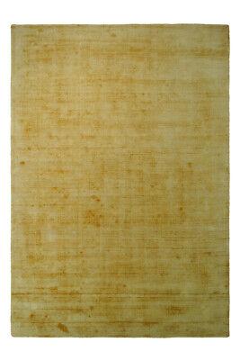 Flachflor  100% Viskose Handgewebt  Kurzflorteppich Gelb 160x230cm