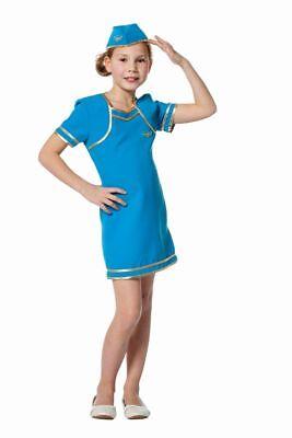 FFF - Kinder Kostüm Flugbegleiterin Stewardess Karneval Fasching - Stewardess Kostüm