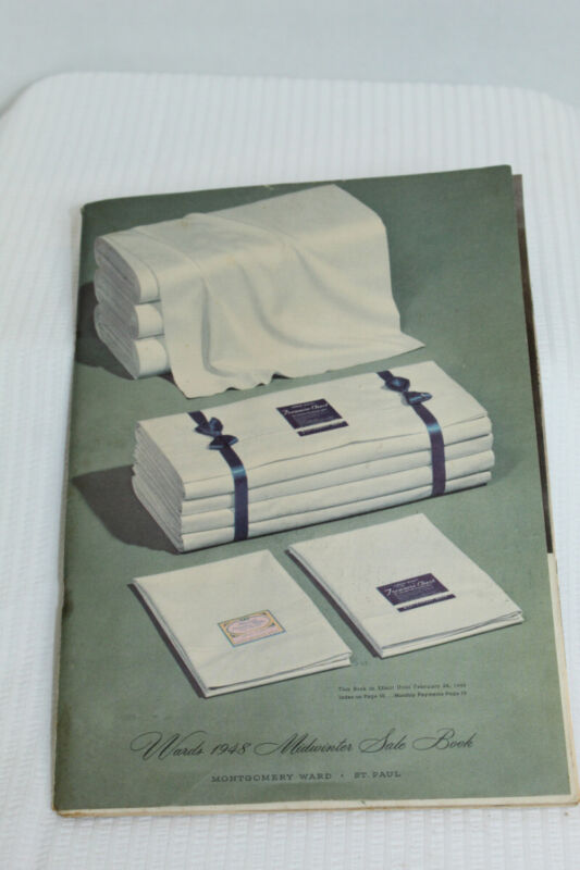 Vintage Montgomery Wards 1948 Midwinter Sale Book Catalog - 162 Pages Reference