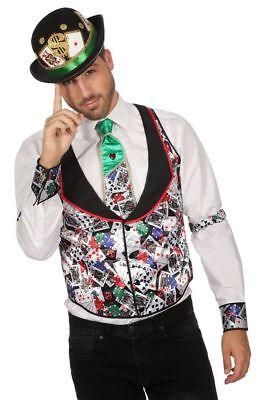 WIL - Herren Kostüm Weste Casino Spielkarte Karneval Fasching