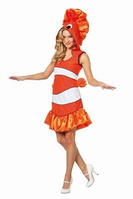 FFF - Damen Kostüm tropischer Fisch orange Karneval Fasching  ()