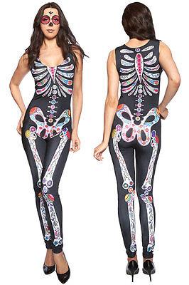 Halloween Cosplay Costume Sexy Sugar Skull Excited Clothing Clubwear Halloween