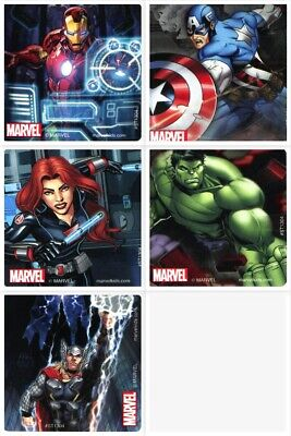 Avengers Party Ideas (Avengers Stickers x 5 - Birthday Party - Favours - Loot Ideas - Avengers)