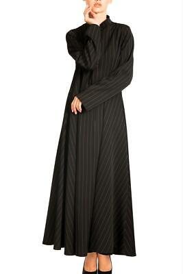 Pin Stripe A-Line Abaya with ZIP and Pockets