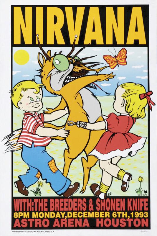 Nirvana Concert Poster 12x18