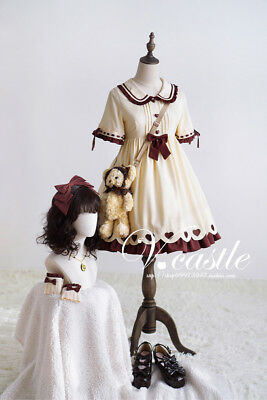 Style One Piece Dress - Japanese Style Sweet Lolita Princess Dress Short Sleeve Skirt Harajuku One Piece