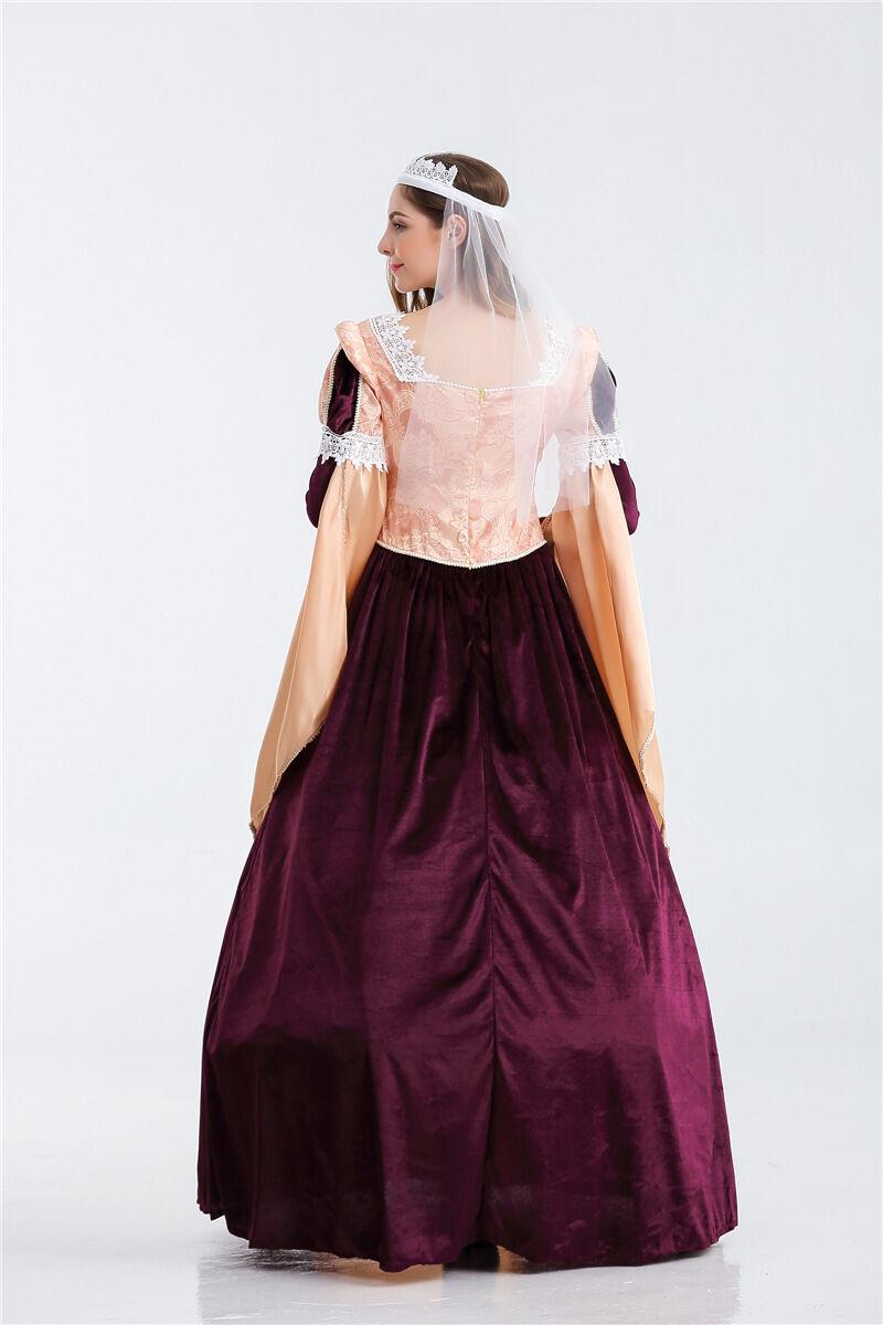 details about damen britisch gothic klassisch mittelalterlich renaissance  kleid maid marion
