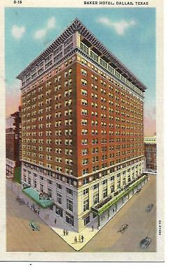 BAKER HOTEL, DALLAS, TEXAS, ,1940'S LINEN POST CARD for sale  Beaverton