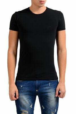Versace Collection Men's Black Stretch Crewneck Short Sleeve T-Shirt XS S M L XL