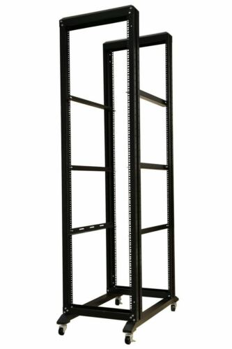"42U Open Frame Server Network Rack 32""Deep 4 Post With 3 Pairs OF L-Rails 1000MM"