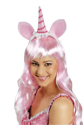 Einhorn Haarreif ROSA  Damen, größere Kinder Zubehör - Rosa Damen Kostüm Kind