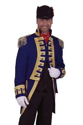 THE - Herren Kostüm Admiral Jacke Garde Uniform blau - Admiral Jacke Kostüm