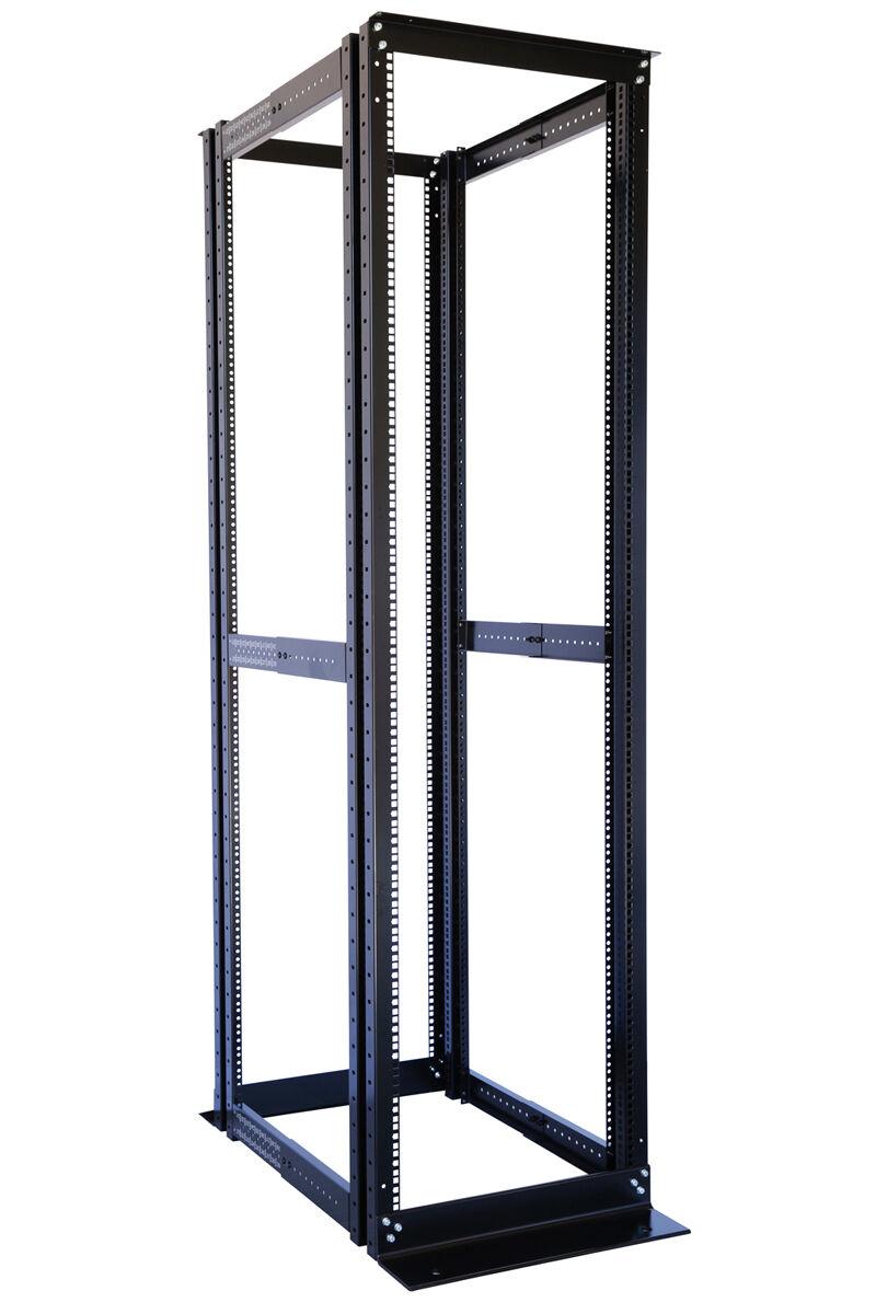 new u post open frame network data server rack mm 42u 4 post open frame server data rack 19 adjustable depth 23 32