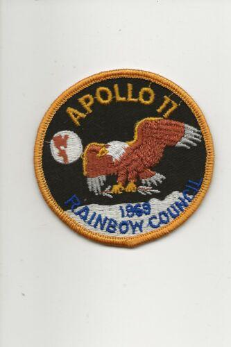 RAINBOW  COUNCIL / 1969  APOLLO  11  patch - Boy Scout BSA A132/7-4