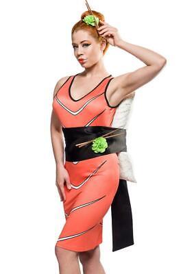 New costume donna travestimento carnevale uy 80143 sushi girl originale dettagli