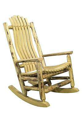 OUTDOOR Log Rocking Chairs Amish Made Rockers Lodge Cabin Style Furniture Amish Made Outdoor Furniture