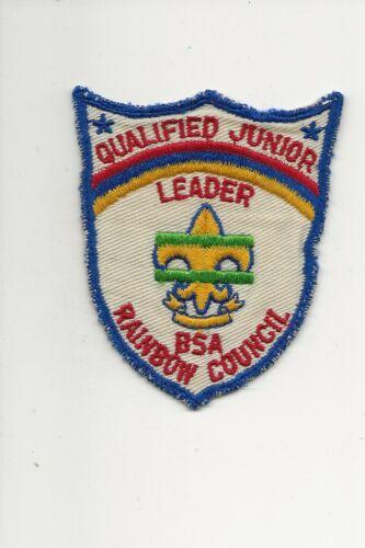 RAINBOW  COUNCIL / QUALIFIED  JUNIOR  LEADER  patch - Boy Scout BSA A132/7-4