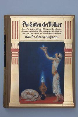 Buschan, Georg -  Die Sitten der Völker.  4 Bände