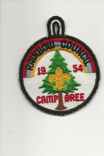 RAINBOW  COUNCIL /  1954  CAMP  O  REE  patch - Boy Scout BSA A132/7-4