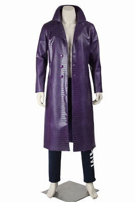 Suicide Squad Batman The Joker Jared Leto Outfits Coat Cosplay Costume Halloween