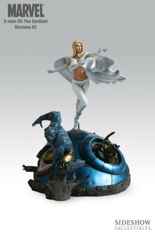 Sideshow Marvel X-Men vs. Sentinel # 2 Beast & White Queen Emma Frost EXCLUSIVE!