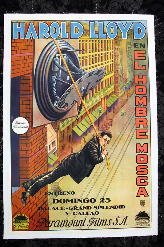 "Safety Last - Harold Lloyd (1923) 29.25"" x 43.25"" Argentine Movie Poster LB"