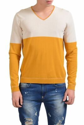 Malo Men's V-Neck Light Multi-Color Sweater Size XS S M