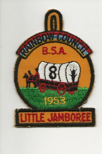 RAINBOW COUNCIL / 1953  LITTLE JAMBOREE  * 8 *  W tab - Boy Scout BSA A132/7-4