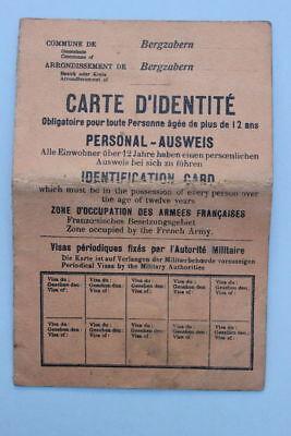 Personal-Ausweis , Rheinlandbesetzung 1918