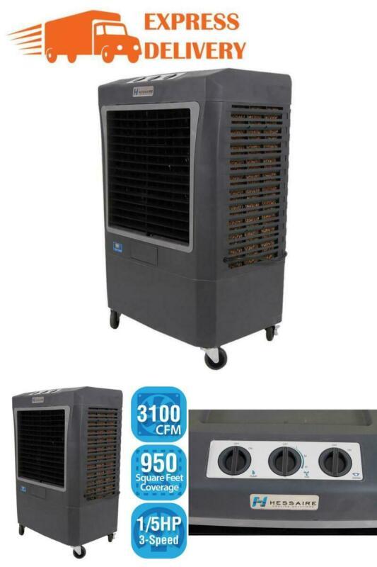 Portable Evaporative Cooler Hessaire 3100 CFM 3-Speed (Swamp Cooler) 950 sq. ft