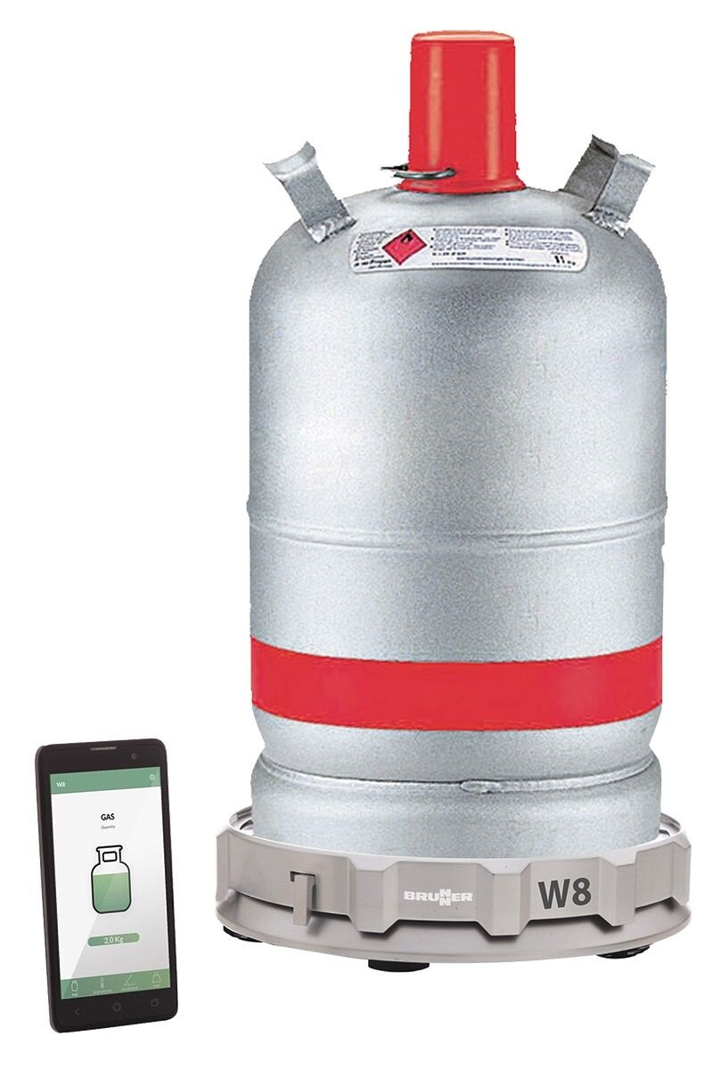 Brunner elektronische Gaswaage W8 Gascontrol Grill APP Bluetooth 0712007N