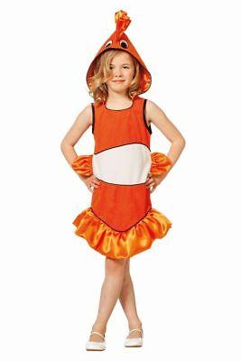 FFF - Kinder Kostüm tropischer Fisch orange Karneval Fasching  ()
