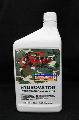 1 Quart 32oz Hydrovator Hydrographics Water Transfer Activator Film Tank Dip Kit
