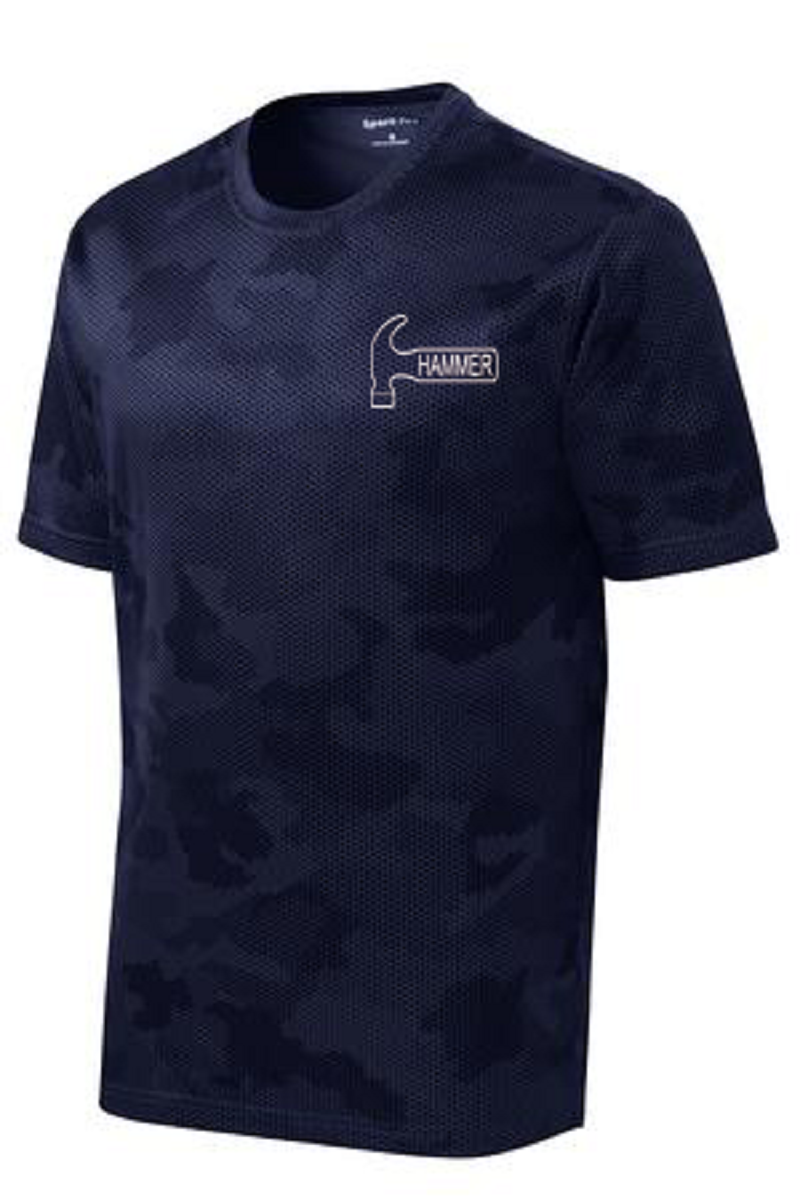Hammer Men's Jacked Performance Crew Bowling Shirt Dri-fit Navy