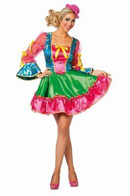 FFF - Damen Kostüm Clownin Kleid Clownkostüm Karneval Fasching  ()