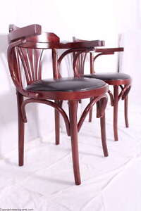 Wunderschöner Bugholz Armlehnenstuhl Schreibtischstuhl Bistrostuhl / Küchenstuhl