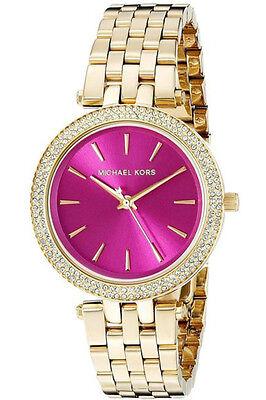 NWT Michael Kors Women's Mini Darci Gold-Tone Stainless Steel Watch 33mm MK3444