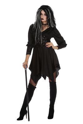 WIL - Damen Kostüm schwarzer Engel Dämon Halloween -