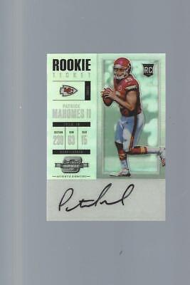 Patrick Mahomes 2017 Rookie Ticket Optic Contenders Auto ACEO Reprint Chiefs