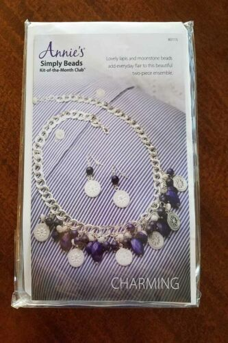New Annies Simply Beads Charming Kit Of The Month Jewelry Making BD115