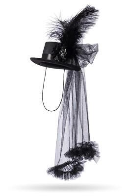 IAL 14456 Viktorianisch Vampir Hut Zylinder Damen Pirat Karneval Kostüm Zubehör - Viktorianischer Hut Kostüm