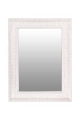 Espejo Decoración Espejo Decorativo Retro Moderno 83x63cm Blanco