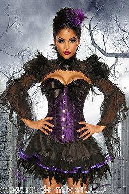 Kostüm Hexen Corsage Kostüm  Gothic Burlesque-Kostüm Halloween Fasching - Burlesque Kostüm Halloween
