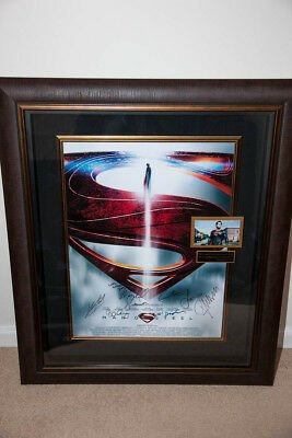 Man Of Steel large poster Shadowbox display frame memorabilia signed (certified)