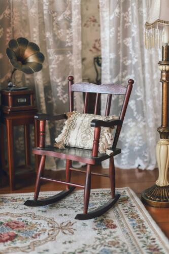 1:3 Scale Doll House Antique Rocking chair  Model