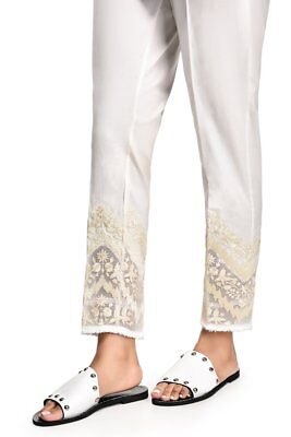 100% Original Ethnic by Outfitter Ready To Wear Embroidered Straight Pants LARGE