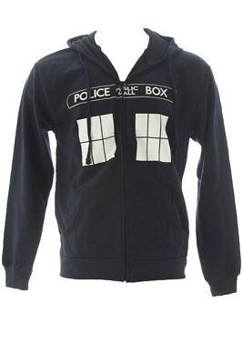 Ripple Junction Dark Navy Doctor Who Call Box Window Adult Hoodie $44.50 NWT - Doctor Who Hoodie