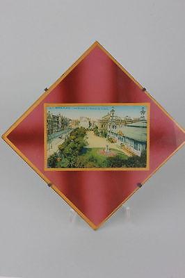 Souvenir de Berg-Plage  Hinterglasansicht, um 1900